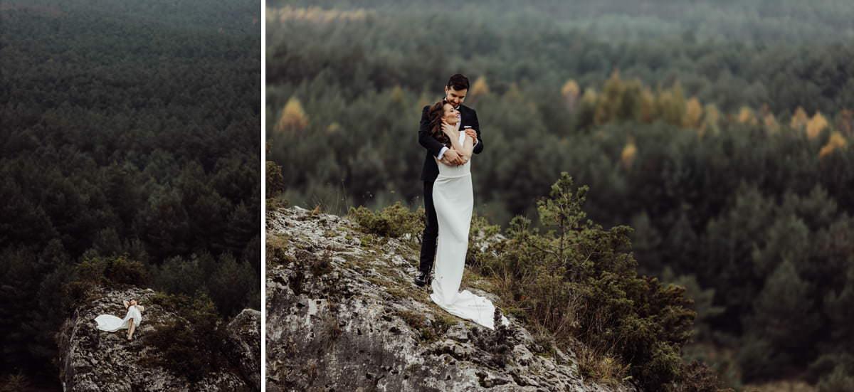 sesja ślubna w plenerze na jurzek krakowsko częstochowskiej