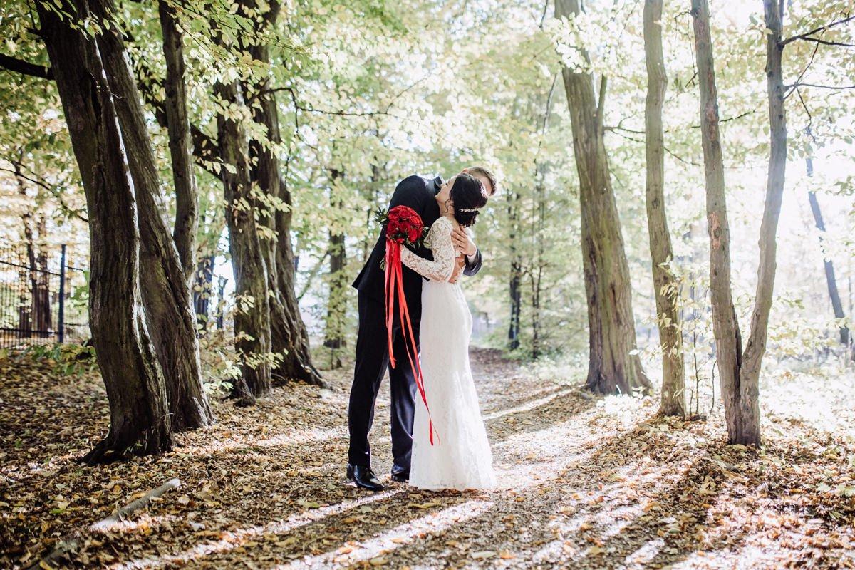 sesja slubna w trakcie wesela